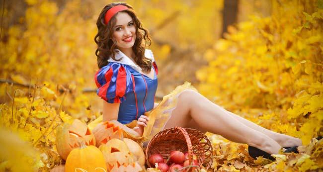 beautiful ukrainian bride on a garden